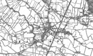 Old Map of Kirton, 1887