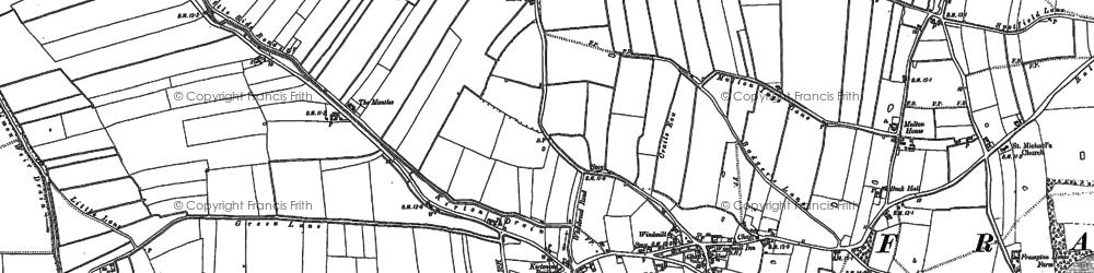 Old map of Blackjack in 1887