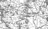 Old Map of Kittisford, 1887 - 1903