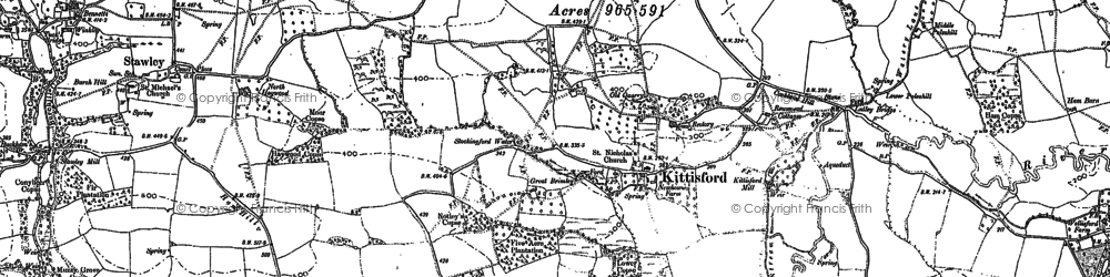 Old map of Appley in 1887