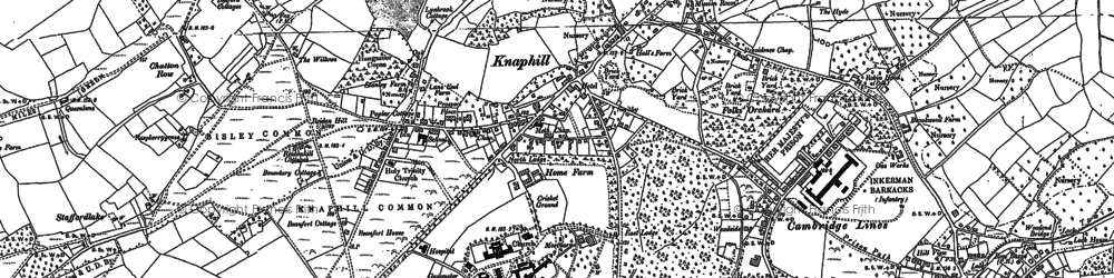 Old map of Whitfield Court in 1895