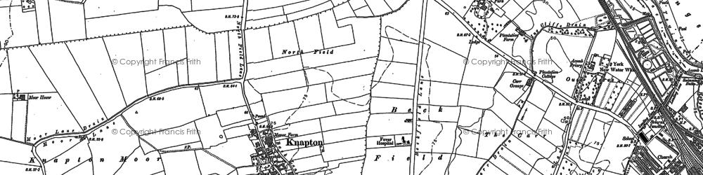 Old map of Chapel Fields in 1890