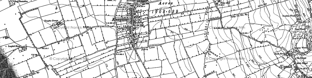 Old map of Woundales in 1892