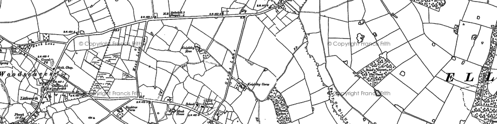Old map of Whitleyeaves in 1880