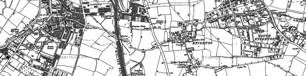 Old map of Knighton in 1885