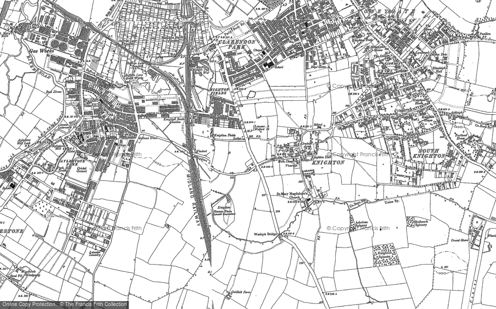 Old Map of Historic Map covering Aylestone Park in 1886