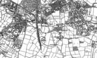Old Map of Knighton, 1886