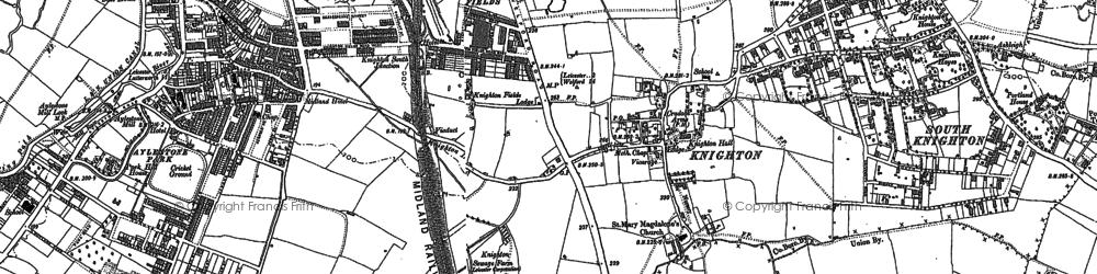 Old map of Aylestone Park in 1886