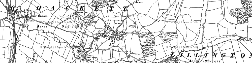 Old map of Whitfield Woods in 1901