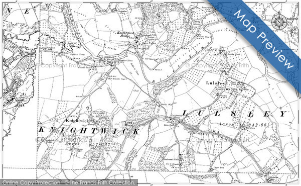Old Map of Knightwick, 1885 - 1903 in 1885