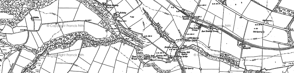 Old map of Backgill Burn in 1895