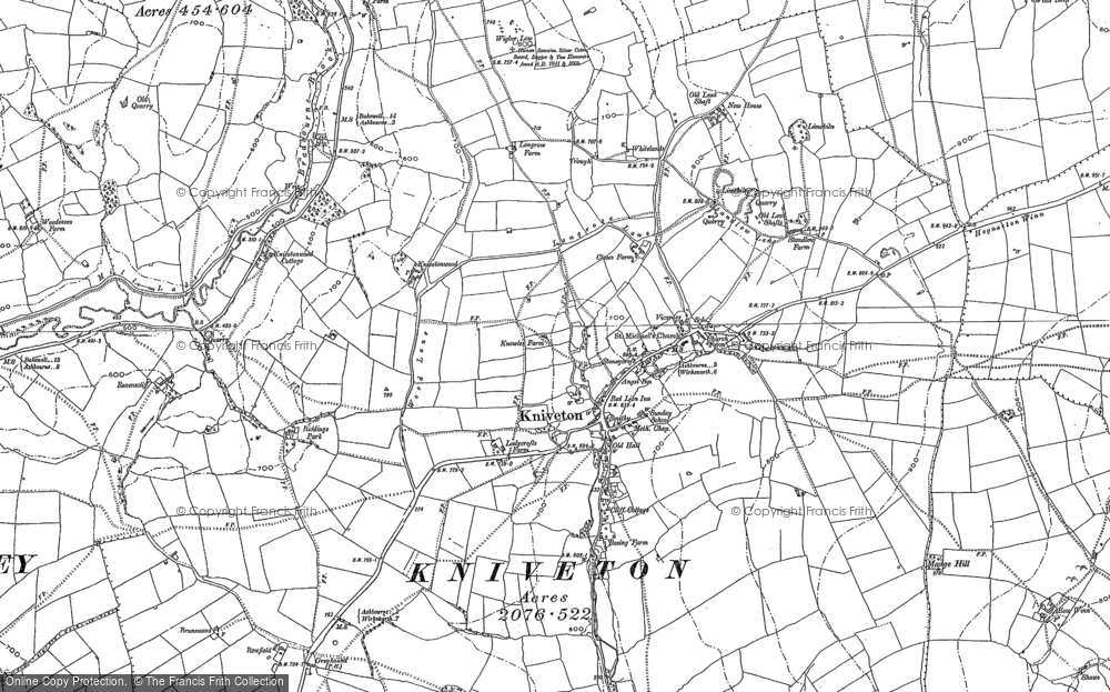 Old Map of Historic Map covering Woodhead in 1879