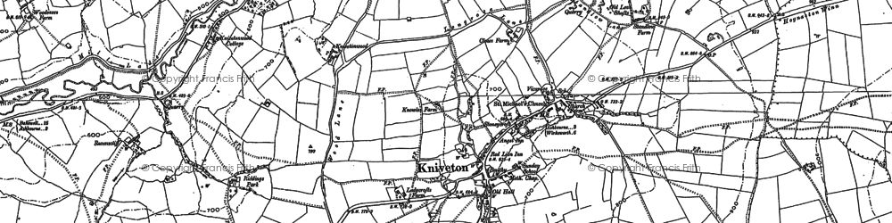 Old map of Woodside in 1879