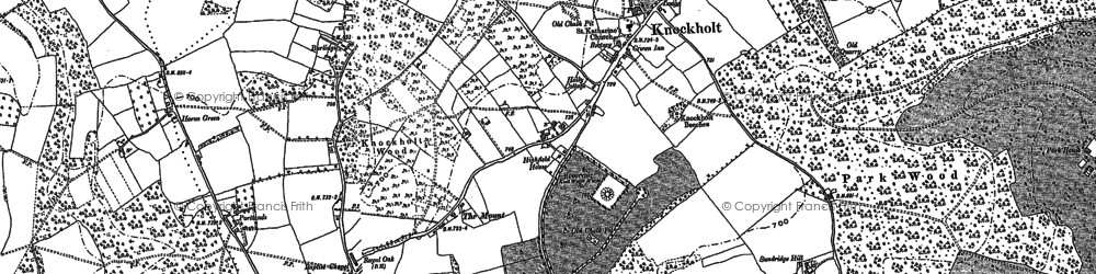 Old map of Knockholt in 1907