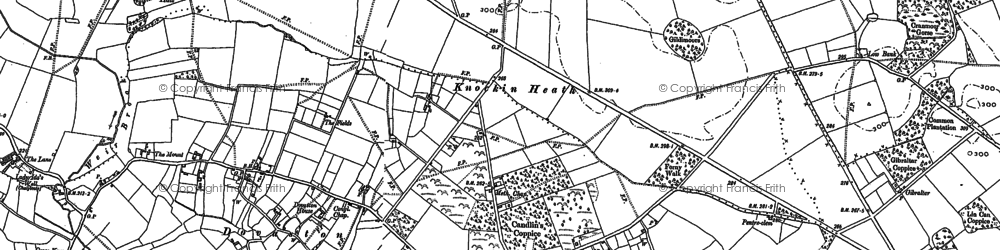 Old map of Wolfshead in 1881