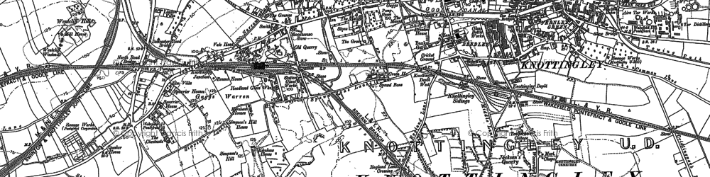 Old map of Knottingley in 1890