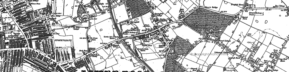 Old map of Swanside in 1891
