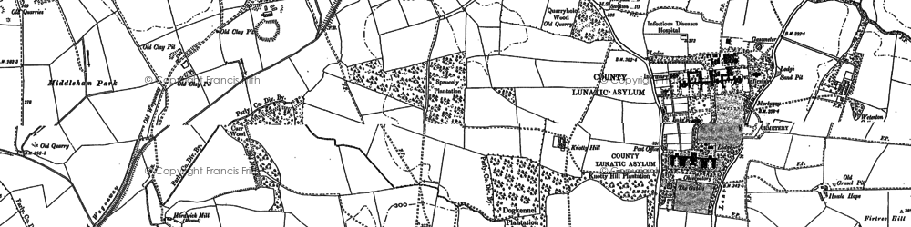 Old map of Weterton Ho in 1896