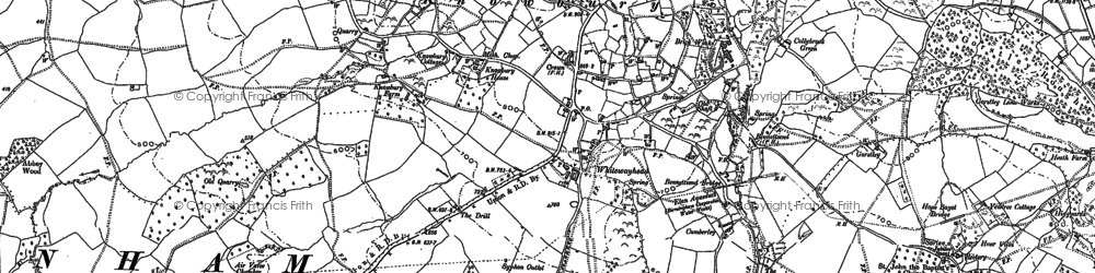 Old map of Knowbury in 1883