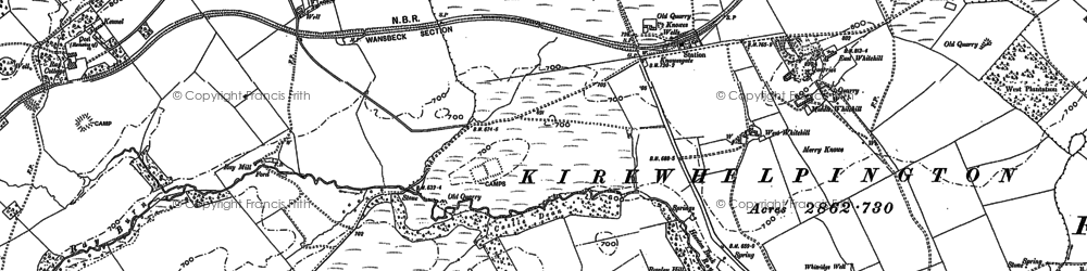 Old map of West Whitehill in 1895