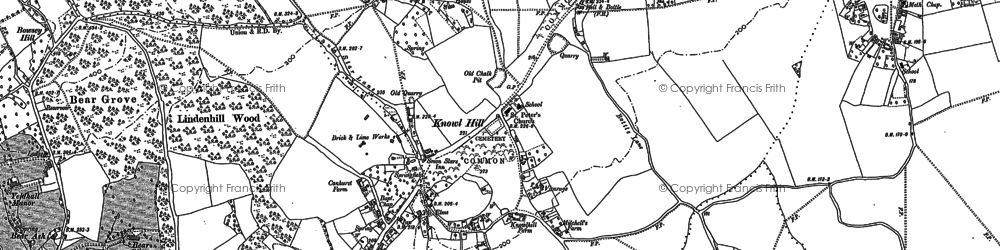 Old map of Ashley Hill Forest in 1910