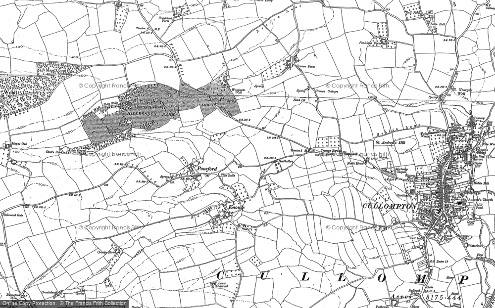 Old Map of Historic Map covering Bagmore in 1886