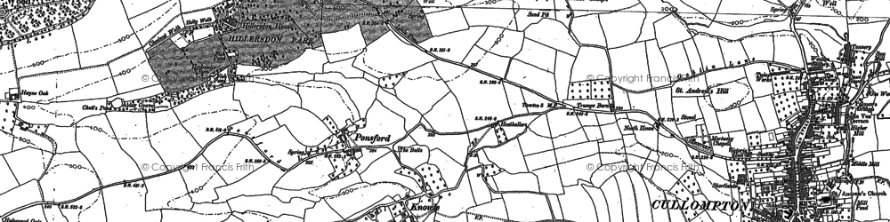 Old map of Bagmore in 1886