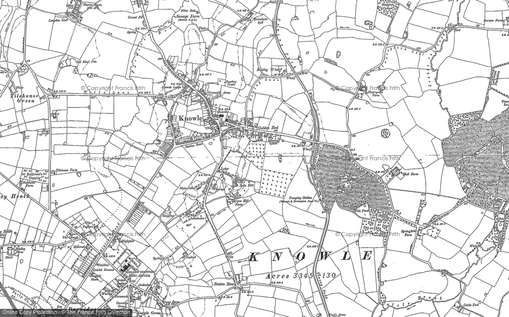 Old Map of Knowle, 1886 in 1886