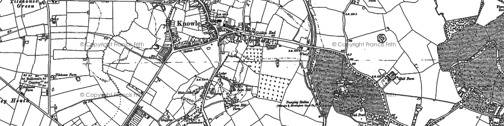 Old map of Knowle in 1886