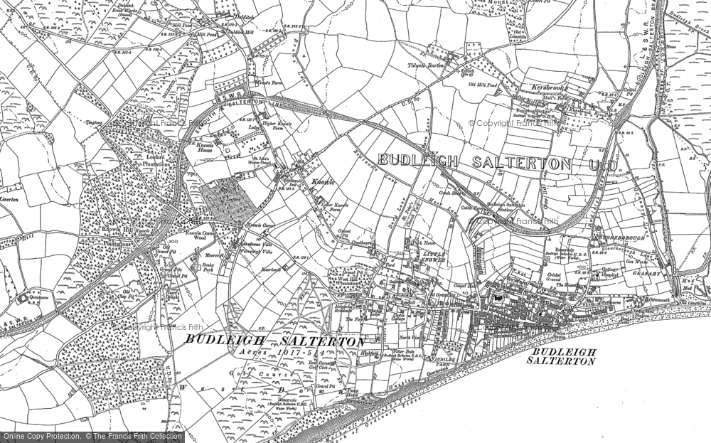 Old Map of Historic Map covering Leeford in 1888