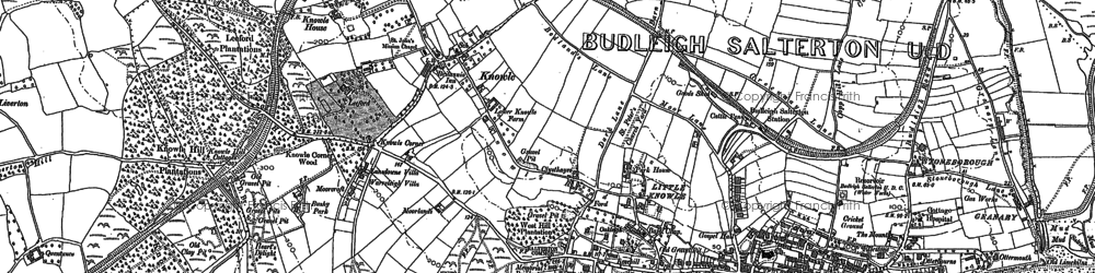 Old map of Leeford in 1888