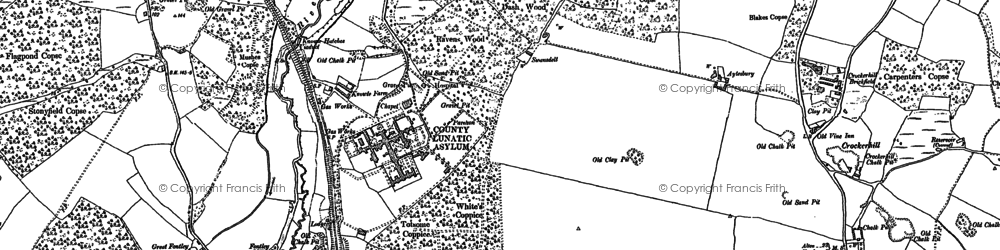 Old map of Lee Ground in 1895