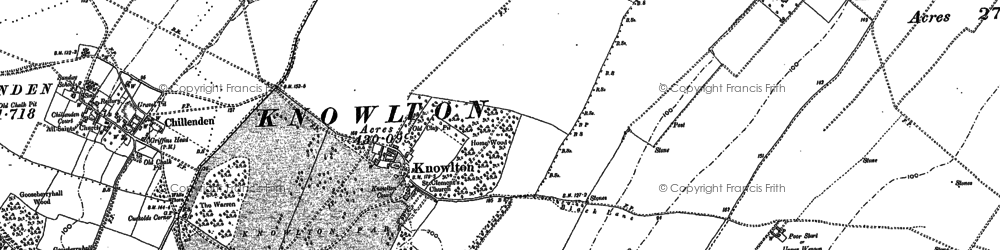 Old map of Tickenhurst in 1872