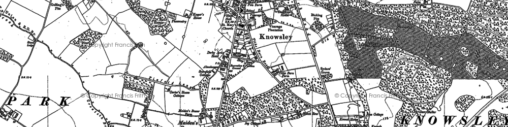 Old map of Knowsley in 1891