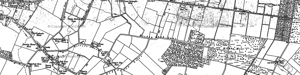 Old map of Moss Side in 1890
