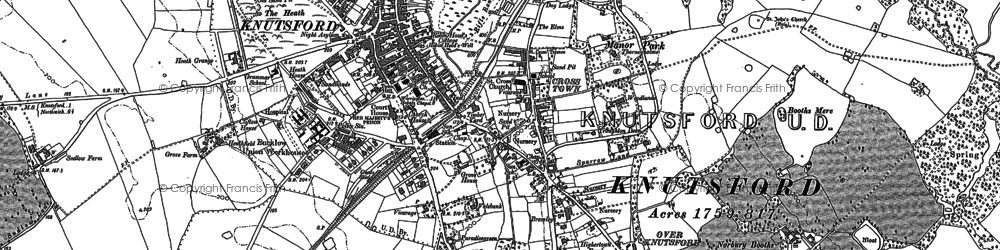 Old map of Knutsford in 1897