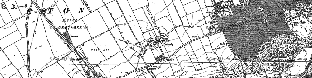 Old map of Lackenby in 1893