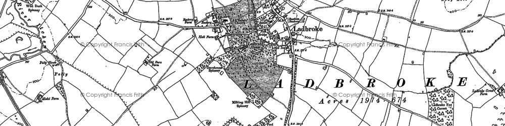 Old map of Larkfield Ho in 1885
