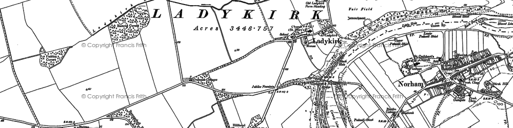 Old map of Wideopen Plantn in 1897