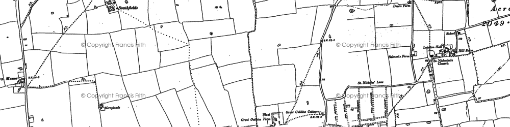 Old map of Laindon in 1895