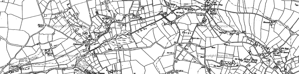Old map of Laity Moor in 1906