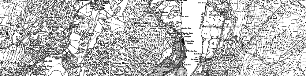 Old map of Lakeside in 1912