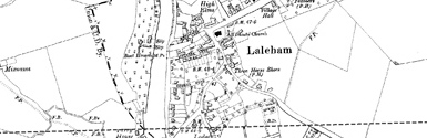 Old map of Laleham centred on your home