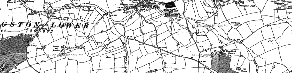 Old map of Laleston in 1913