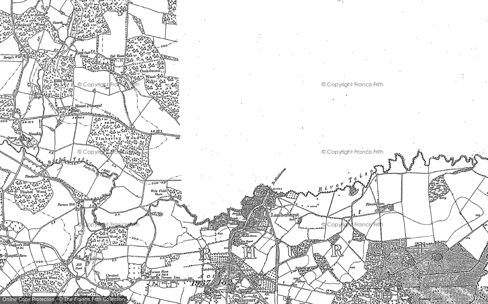 Old Map of Lamberhurst, 1907 in 1907