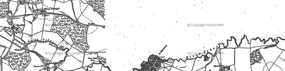 Old map of Lamberhurst in 1907
