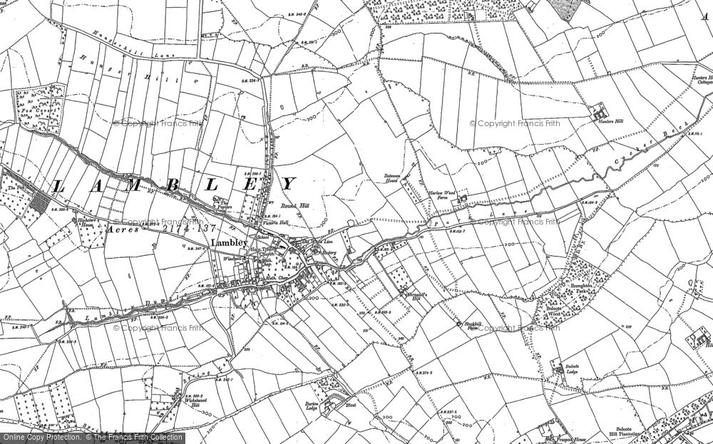 Map of Lambley, 1883