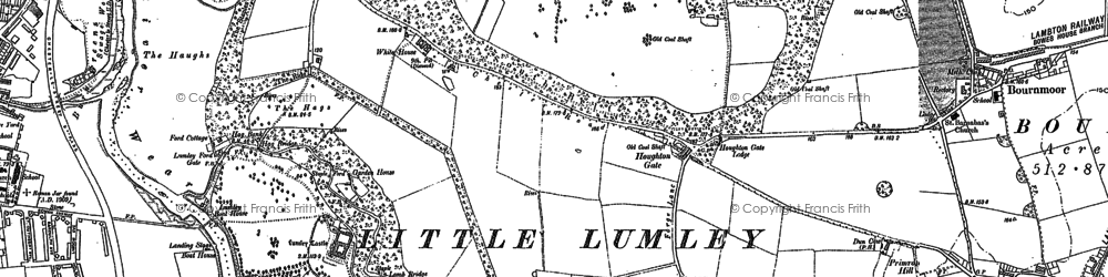 Old map of Lambton Park in 1895