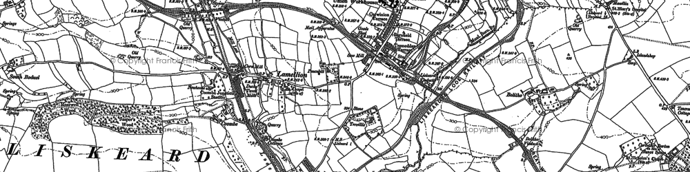 Old map of Lodge Hill in 1881