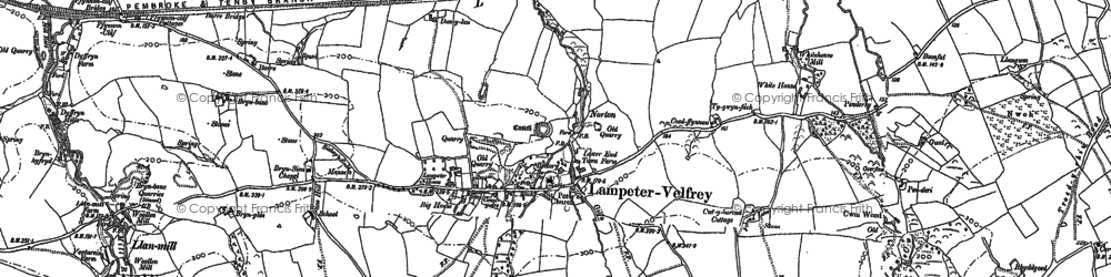 Old map of Afon Marlais in 1887